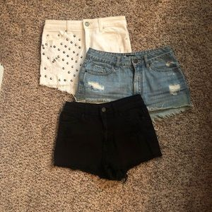 3 Bdg shorts. Can be bought separate or together
